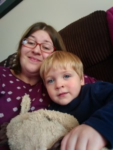 Briony and son